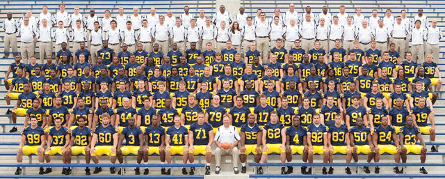 *2009 Michigan football team, taken from Mgoblue.com