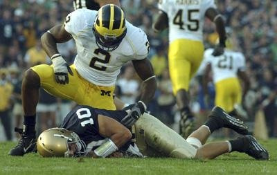 Image result for brady quinn sack Michigan