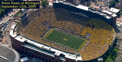 Wolverine Overtime: Michigan Rises And Strikes Down Notre Dame »  StadiumNDgame. *The Big House ...