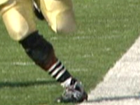 *Armando Allen's foot appears to touch the line, photo by WNDU