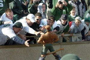 *Michigan State retains the Paul Bunyan trophy for second straight year, photo by Lon Horwedel | AnnArbor.com
