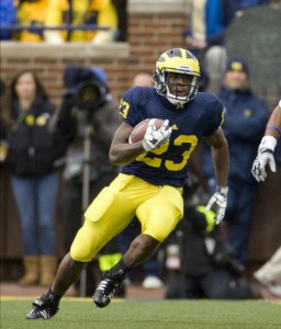 *Carlos Brown leads Michigan in rushing with 371 yards (7.1 yards per carry) and four touchdowns, photo by MGoBlue.com