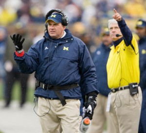 *Keep the faith in Rich Rodriguez and Greg Robinson as they build their program, photo by MGoBlue.com