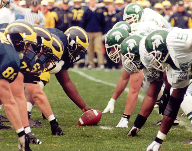 Michigan vs. Michigan State, photo taken from www.press.umich.edu