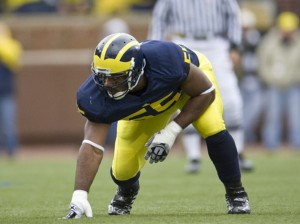 *Brandon Graham ranks second all-time in career sacks at Michigan, but has yet to beat Ohio State, photo by MGoBlue.com