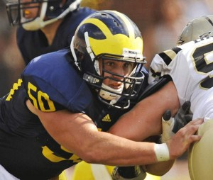 *Michigan missed center David Molk's absense for the second half of the season