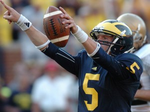 *Tate Forcier led Michigan to a win over Notre Dame, photo by Melanie Maxwell | AnnArbor.com