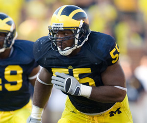 *Branon Graham has become one of the best defensive ends in Michigan history