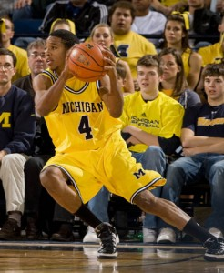 Freshman guard Darius Morris has to play beyond his age against Connecticut, photo by Mgoblue.com