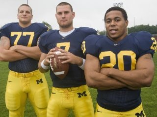 Three of the top players in Michigan history at their position (Jake Long, Chad Henne, Mike Hart) graduated prior to Rodriguez's hiring