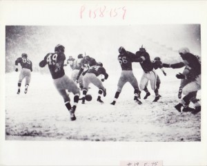 The Snow Bowl of 1950 never would have happened if the game were played mid-season