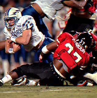 Air Force's Beau Morgan holds the FBS record for rushing yards by a QB with 1,494