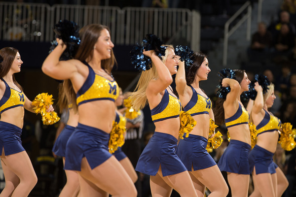 Michigan dance team vs Iowa