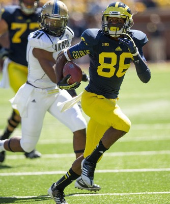 Jehu Chesson is Michigan's leading returning true receiver with just 15 receptions (MGoBlue.com)