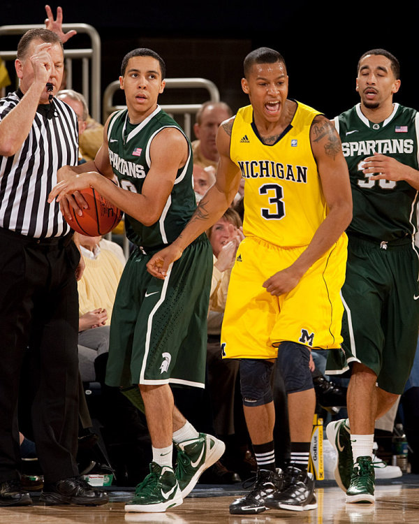 Burke scored 20 points to lead Michigan past the Spartans in his first meeting (MGoBlue.com)