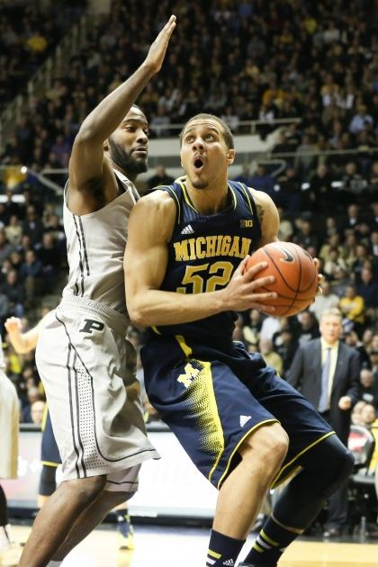 Jordan Morgan came up huge, especially in overtime, finishing with 13 points and nine boards (Dustin Johnson, UMHoops)
