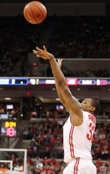 Tomorrow's opponent, Ohio State, has made 45.5 percent of its threes the past three games (Mike Munden, AP)