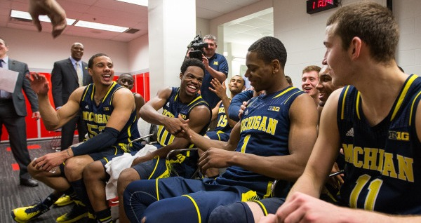 Locker room vs Ohio State 2-11-14