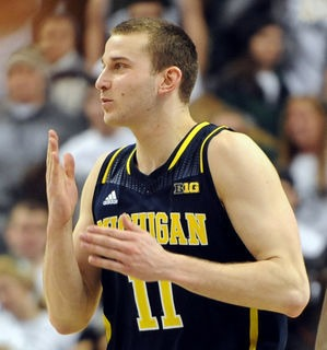 Nik Stauskas blew kisses to the Breslin Center crowd after Michigan's 80-75 win on Jan. 25