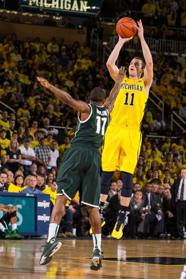 Nik Stauskas dominated the second half, scoring 21 of his game-high 25 points (MGoBlue.com)