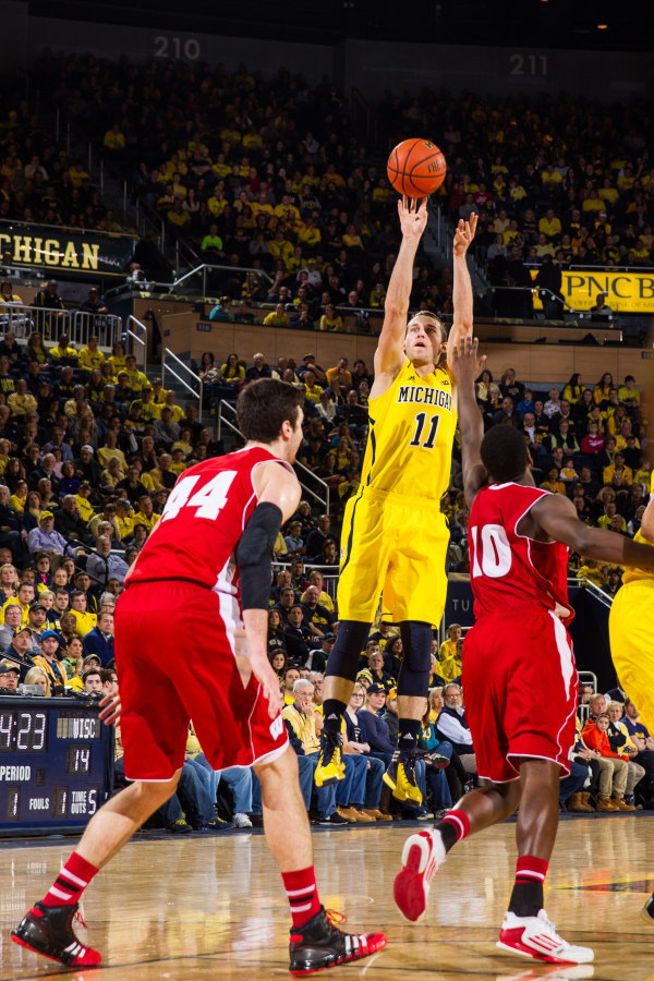 Nik Stauskas has been held to just 11.2 points in his last four games (MGoBlue.com)