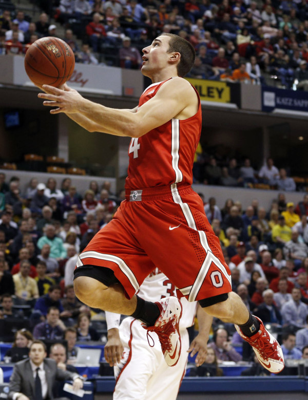Michigan's defense must keep Aaron Craft out of the lane and force him to shoot from outside (Brian Spurlock, USA Today Sports)