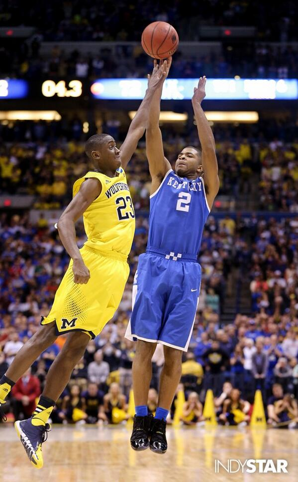 Aaron Harrison's three with two seconds remaining ended Michigan's season (IndyStar)