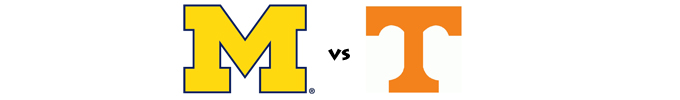 Michigan vs Tennessee banner