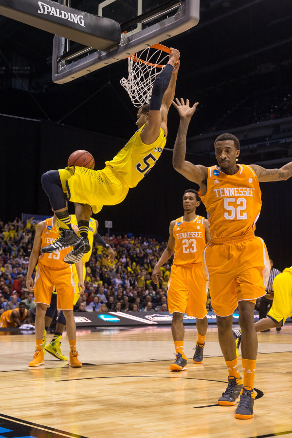 Jordan Morgan won the battle of big men with 15 points and seven rebounds (MGoBlue.com)