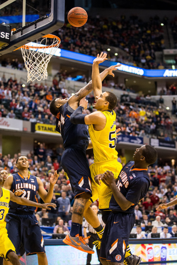 Jordan Morgan atoned for a rough game with the game-winning basket (MGoBlue.com)