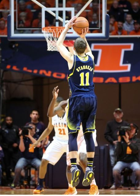 Nik Stauskas' emergence into likely Big Ten Player of the Year and fringe NBA lottery pick helped Michigan move on from Trey Burke and Tim Hardaway Jr (Dustin Johnson, UMHoops)