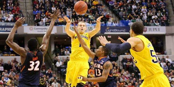 Stauskas to Morgan vs Illinois 3-14-14