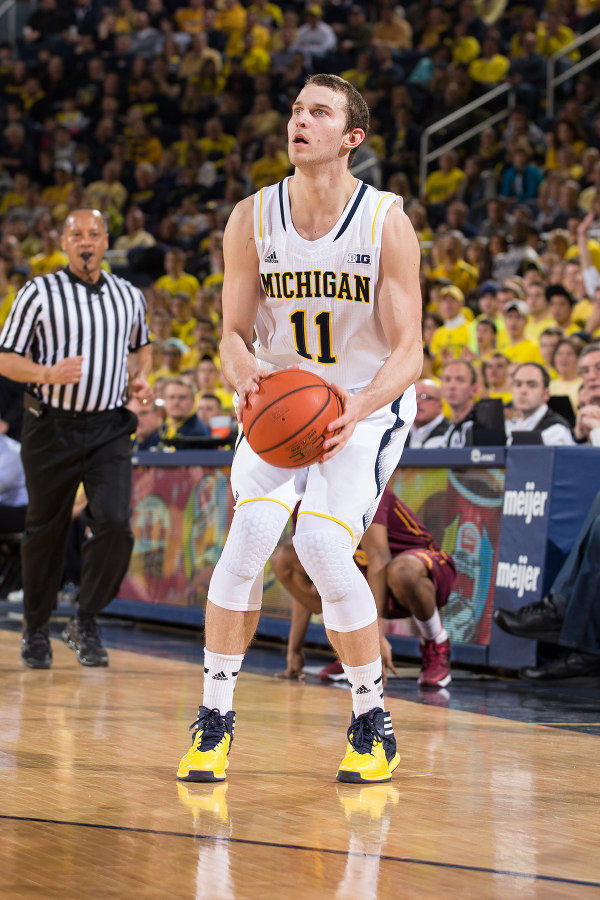 Stauskas made five threes for the fourth time this season (MGoBlue.com)