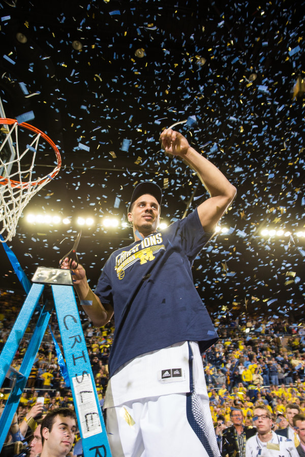 Jordan Morgan cutting net 3-8-14