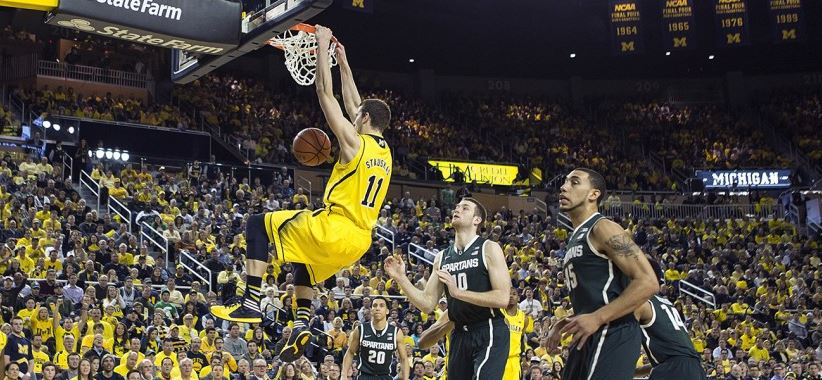 Stauskas dunk vs MSU 2-23-14