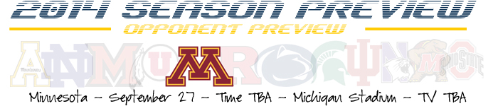 2014 Opponent Preview - Minnesota