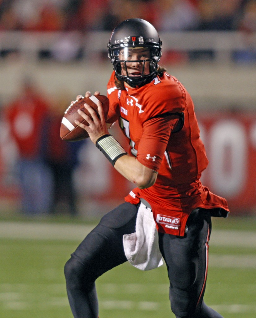 Dual-threat quarterback Travis Wilson had highs and lows last season and will look for consistency under new offensive coordinator Dave Christensen (Tom Smart, Utah Sports Information)
