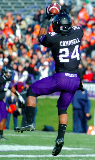 Senior Ibraheim Campbell is a ball-hawking safety (Michael Bojda, The Daily Illini)