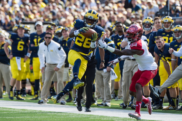 Jourdan Lewis recorded his first career interception (MGoBlue.com)