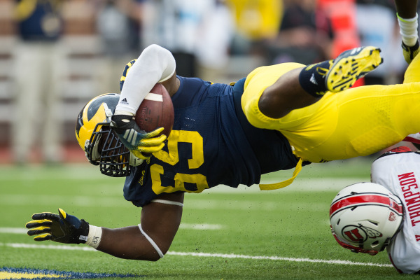 Willie Henry scored Michigan's first defensive touchdown of the season (MGoBlue.com)