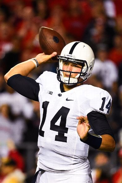 Christian Hackenberg is second in the Big Ten is passing yards per game, but has just four touchdowns and six interceptions and a quarterback rating lower than Devin Gardner (Alex Goodlett, Getty Images)