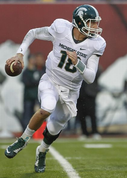 Connor Cook ranks second in the Big Ten in pass efficiency (Michael Hickey, Getty Images)