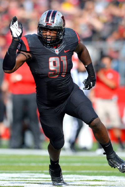 Tackle Darius Hamilton leads Rutgers with 3.5 sacks and will be a big test for Michigan's offensive line (Rich Kane, Icon SMI)