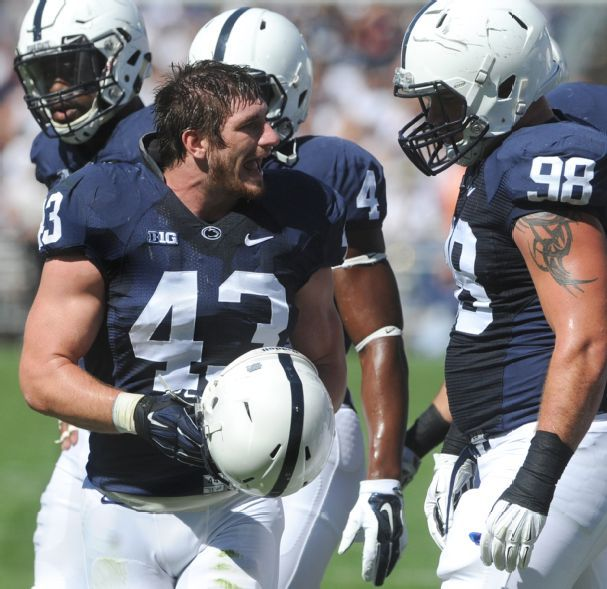 Mike Hull and the Penn State defense rank second nationally against the run (Jason Piotkin, York Daily Record)