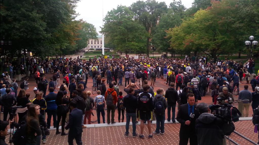 Rally at the diag