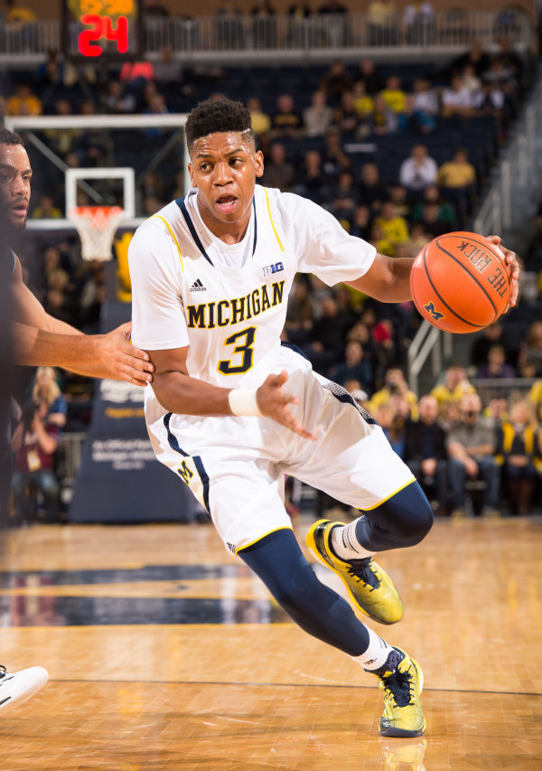 Kam Chatman had a nice all-around game in his first collegiate action (MGoBlue.com)