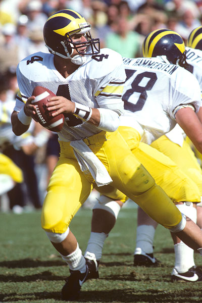 Former Michigan quarterback Jim Harbaugh will become the 19th head coach in program history (Malcolm Emmons, USA Today Sports)