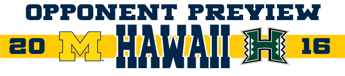 2016 Opponent Preview - Hawaii