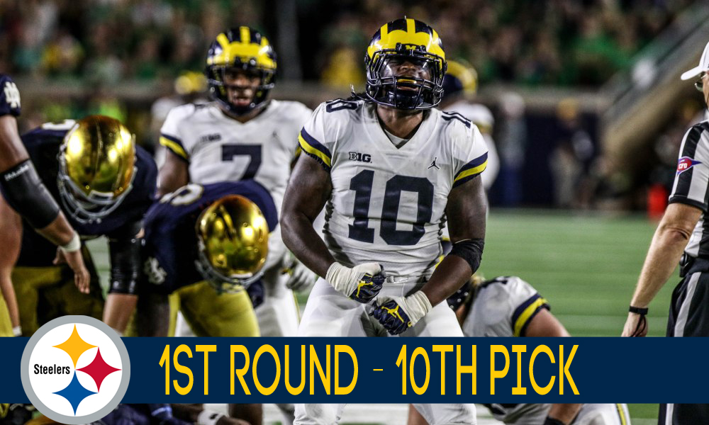 f6731b283a9 Devin Bush drafted 10th overall by Pittsburgh Steelers